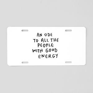 Inspire - Good Energy Aluminum License Plate