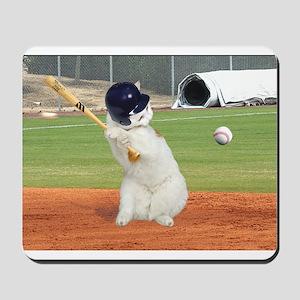 Baseball Cat Mousepad