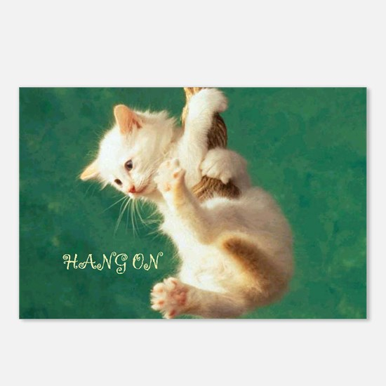 Hang On Cat Postcards (Package of 8)