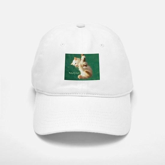 Hang On Cat Baseball Baseball Cap