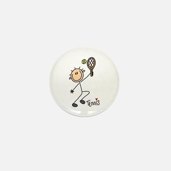 Tennis Stick Figure Mini Button