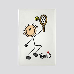 Tennis Stick Figure Rectangle Magnet