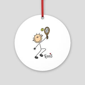 Tennis Stick Figure Ornament (Round)