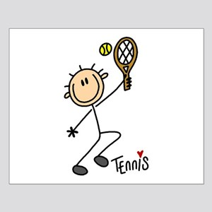 Tennis Stick Figure Small Poster