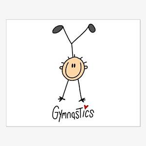 Gymnastics Stick Figure Small Poster