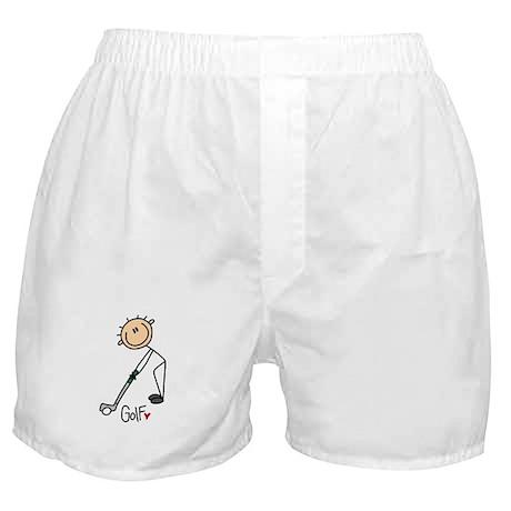 Golf Stick Figure Boxer Shorts