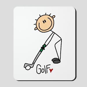 Golf Stick Figure Mousepad