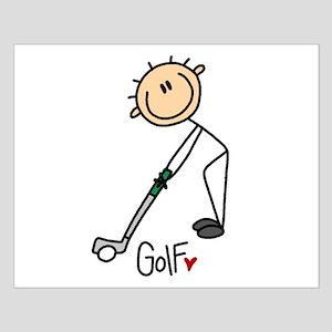 Golf Stick Figure Small Poster
