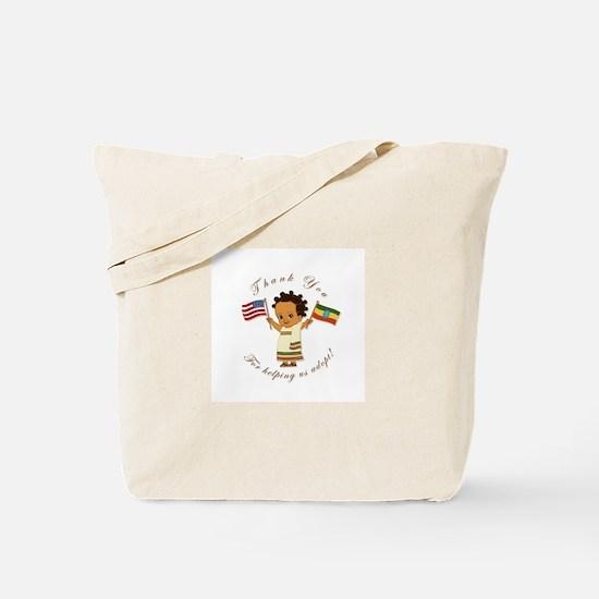 Thank you Ethiopia Adoption (Girl) Tote Bag
