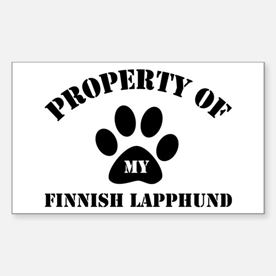My Finnish Lapphund Rectangle Decal