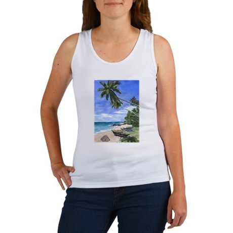 Sunny Island Beach Women's Tank Top