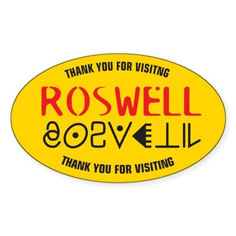 Roswell Logo Merchandise Oval Sticker