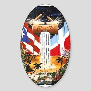 NEW!!! PUERTO RICAN PRIDE Oval Sticker