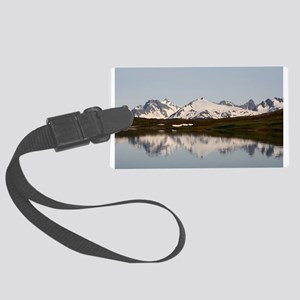 Lake reflections of mountains, A Large Luggage Tag