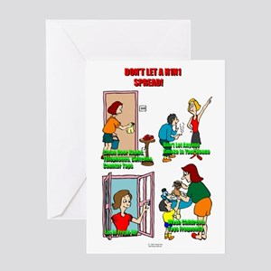 Stop A H1N1 Greeting Card