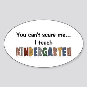 Teach Kindergarten Oval Sticker