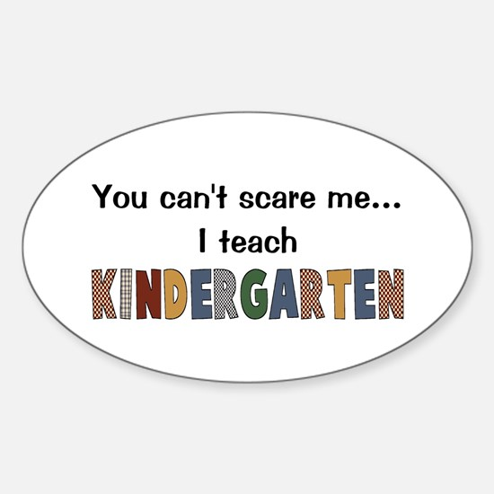 Teach Kindergarten Oval Decal
