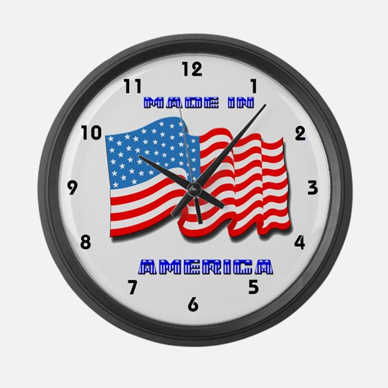Made in America Large Wall Clock