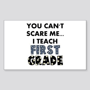 1st Grade Teacher Rectangle Sticker
