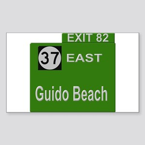 Parkway Exit 82 Rectangle Sticker