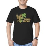 Organic Brewer Men's Fitted T-Shirt (dark)