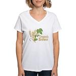 Organic Brewer Women's V-Neck T-Shirt