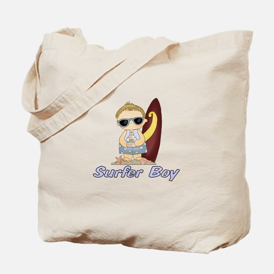 Surfer Boy Tote Bag