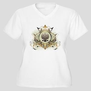 Stylish Poland Women's Plus Size V-Neck T-Shirt