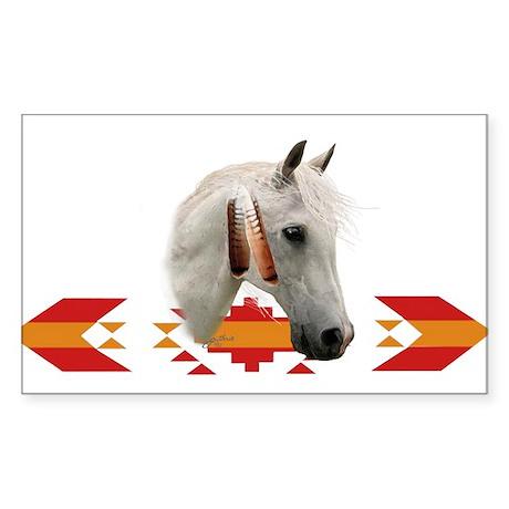 Indian Pony Rectangle Sticker