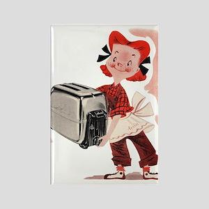 Toaster Girl Rectangle Magnet