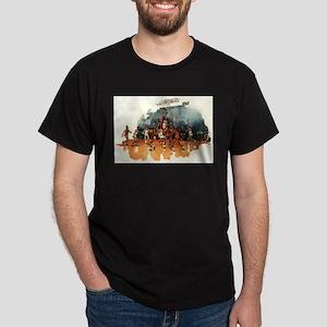 Vintage Sports Basketball Dark T-Shirt