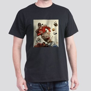 Vintage Sports Football Dark T-Shirt