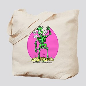 Funny Friendly Zombie Tote Bag
