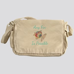 Any Fin is Possible Inspirational Fi Messenger Bag
