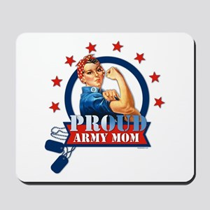 Rosie Proud Army Mom Mousepad
