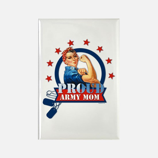Rosie Proud Army Mom Rectangle Magnet