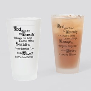 Serenity Prayer Drinking Glass