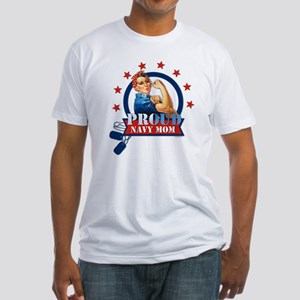 Rosie Proud Navy Mom Fitted T-Shirt