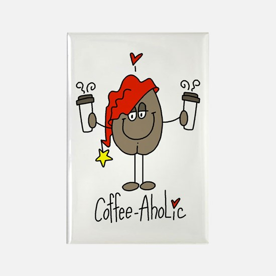 Coffee-Aholic Rectangle Magnet
