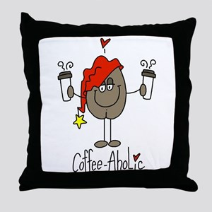 Coffee-Aholic Throw Pillow