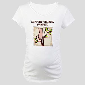 Organic Farming Hand Maternity T-Shirt