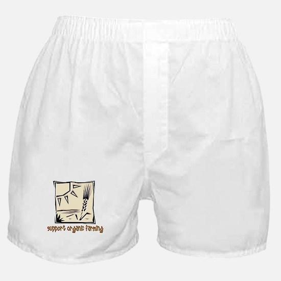 Support Organic Farming Boxer Shorts
