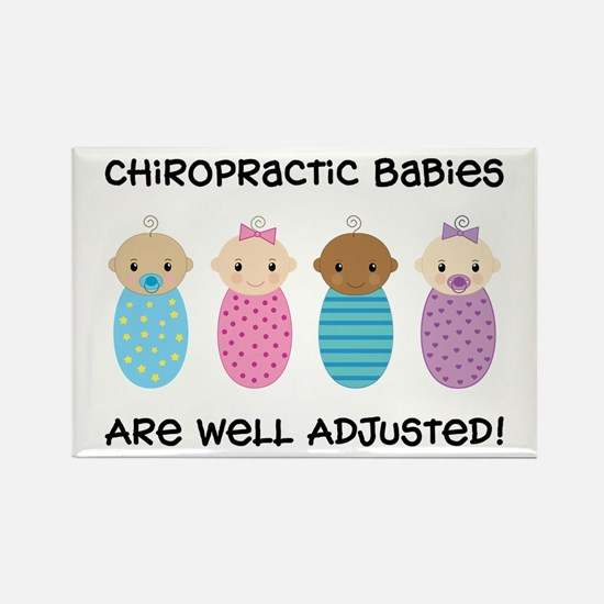 Chiropractic Babies Rectangle Magnet