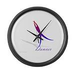 Dancer Large Wall Clock