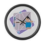 Rainbow Archer Large Wall Clock