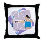 Rainbow Archer Throw Pillow
