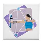 Rainbow Archer Tile Coaster