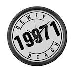 Dewey Beach 19971 Large Wall Clock