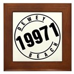 Dewey Beach 19971 Framed Tile
