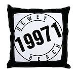 Dewey Beach 19971 Throw Pillow
